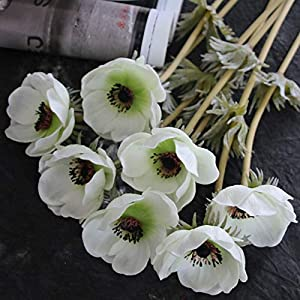 Artificial and Dried Flower 1PCS Real Touch Fake Flowers Vintage Artificial Anemone Silk Flowers Wedding Home Decoration