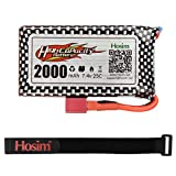 Hosim 9125 Battery 2000mah Lipo Battery 7.4V Rechargeable Battery 25-DJ02 & 1 Pack USB for Hosim 1:10 Scale 9125 All Terrain RC Car S920 S921 High Speed Monster Truck Accessory Supplies SDL-103562