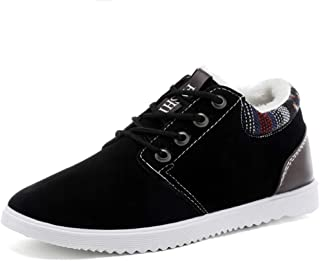 2018 Mens New Arrival Shoes, Men's Oxford Shoes, Casual Fashion Stitching Low Top Flexibility Winter Faux Fleece Inside Formal Shoes