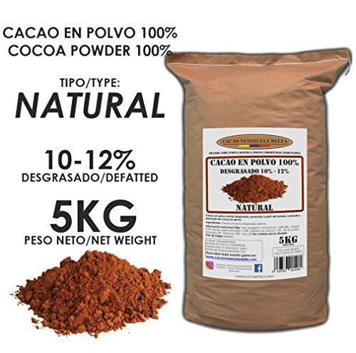 Cacao Venezuela Delta - Cacao en Polvo Puro 100{37cf1bb9c8cccc293d16e51c538346f33ce8cd2c414500442da5081cf39c4864} · NATURAL · Desgrasado 10-12{37cf1bb9c8cccc293d16e51c538346f33ce8cd2c414500442da5081cf39c4864} · 5kg