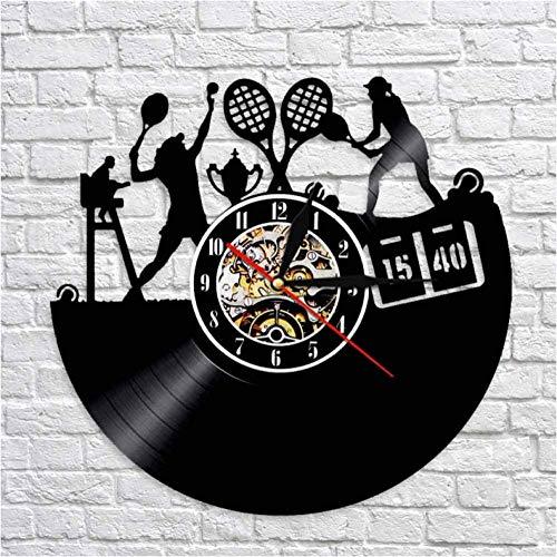 Reloj de pared para jugador de tenis deportivo, diseño de juego de tenis