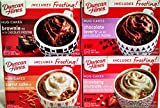 Duncan Hines MUG CAKES, NEW for 2019! Variety 4 Pack, 1 box each of CHOCOLATE LOVER'S, CARROT CAKE, BROWNIE, STRAWBERRY SHORTCAKE. Each box has 4 Packs and includes FROSTING!