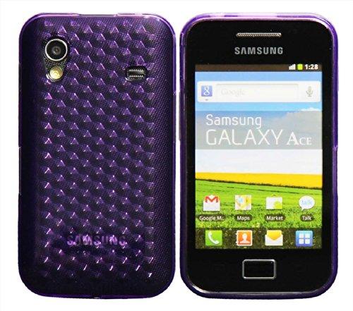 Luxburg® Diamond Design Schutzhülle für Samsung Galaxy Ace GT-S5830 in Farbe Amethyst Violett, Hülle Case aus TPU Silikon