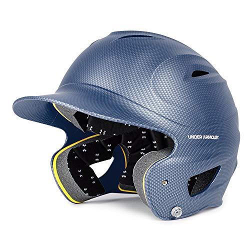 Under Armour Classic Carbon Tech Batting Helmet, Navy Blue, Adult (12+)