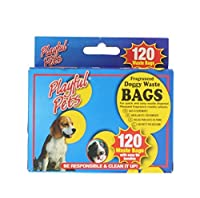 120pk Doggy Waste Bags In Pvc Coated Dispenser Box