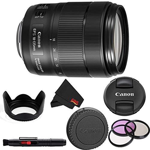 Canon EF-S 18-135mm f/3.5-5.6 is USM Lens (International Model) Standard Bundle