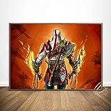 Juego De God of War, Póster De Arte De Pared, Lienzo Impreso, Cuadros De Pintura, Decoración del Hogar para La Decoración...