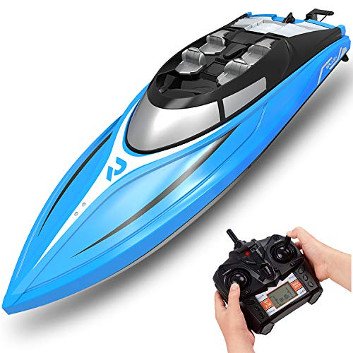 RC Boats for Kids, Remote Control Boat for Boys 8-12, 20+Mph High-Speed RC Boats for Adults, Fun Lake Toys for Pools and Lakes, Fast Remote Control Submarine with Low Battery and Over-Range Alarm