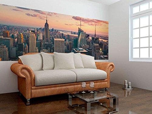 murando Deko Panel XXL 227x100 cm Vlies Tapete Poster Panoramabilder Riesen Wandbilder Dekoration Design Fototapete Wandtapete Wanddeko Wandposter New York 1101-10