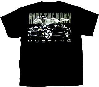 Mustang Cotton Ford T-Shirt Black Adult Men's Women's Short Sleeve T-Shirt