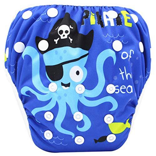 Badewindelhose Baby Schwimmwindel,COLORFUL Nette Muster Bademode Badehose Shorts für 0-24 Monate Neugeborene Kleinkind Baby Jungen Mädchen (I)