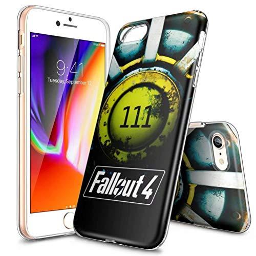 Custodia per iPhone XR, ultra sottile, trasparente, in TPU, antiurto, antigraffio, modelli personalizzabili [LZX20190423] iPhone 6 / 6s Plus FALLØUT 4-111 SHELTER