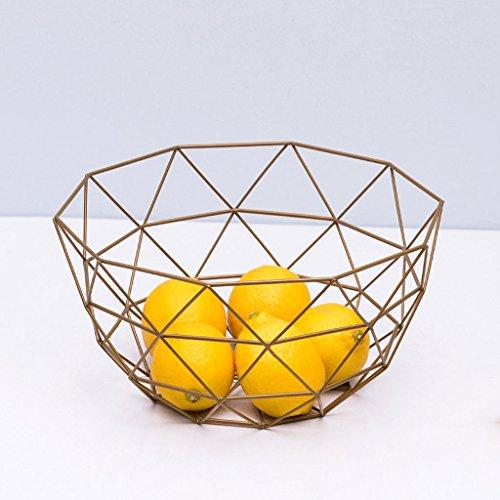 C&S CS Fruit Basket Huishoudelijke Woonkamer Snacks Opslag Mand Gedroogd Fruit Bowl Ijzer Geometrisch Ontwerp