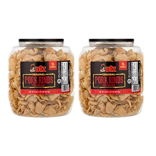 UTZ Pork Rinds Barrel, 18 Ounce (2 Packs(18 Ounce))