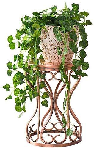ZJN-JN Estantes Flores Planta de Soporte Moderno Soporte de Metal de Almacenamiento en Rack Interior de la Sala del plantador de Amarre del Suelo Soporte de la Ayuda del té del café Tabla Tambor de