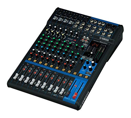 Yamaha MG12XU - Mezclador para DJ (24 Bit, -78 Db, 192 kHz, 6,3 mm, 22W, 30,8 cm)