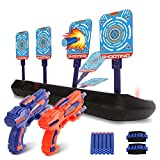 Jogotoll Toy Guns for Kids 2 Pack,Blaster Gun Pistol with Electronic Shooting Target,Two Wristbands and 20 Foam Refill Darts,Gifts for Boys Girls Age 4 5 6 7 8 and Up