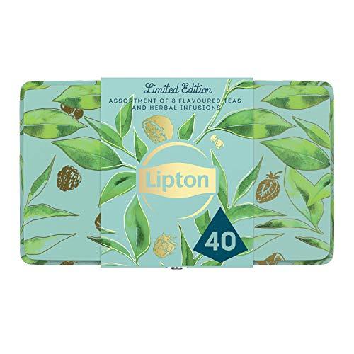 Lipton confezione regalo con varietà di té selezionate – 40 filtri (5 filtri x 8 varietà)