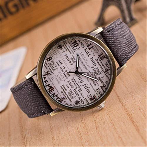 Orologio Uomini Tela Band Quartz Wristwatches British Vintage Graffiti Semplice Casual Garbled Personalità Donne Orologi Uomini Regalo Grigio