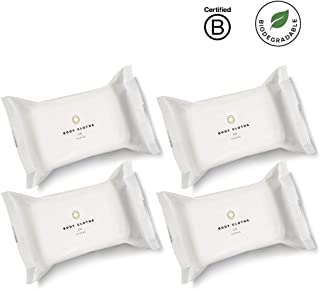 Cora pH Balanced Bamboo Feminine Wipes with Plant-Based Moisturizers and Essential Oils (4 Packs; 120 Count Total)