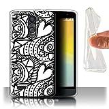 Phone Case for LG L Bello/D331 Black Fashion Heart Swirls