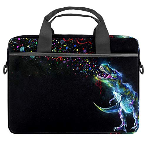 TIZORAX Laptop Bag Dinasaur Watching Party Sparkles Notebook Sleeve with Handle 15-15.4 inches Carrying Shoulder Bag Briefcase