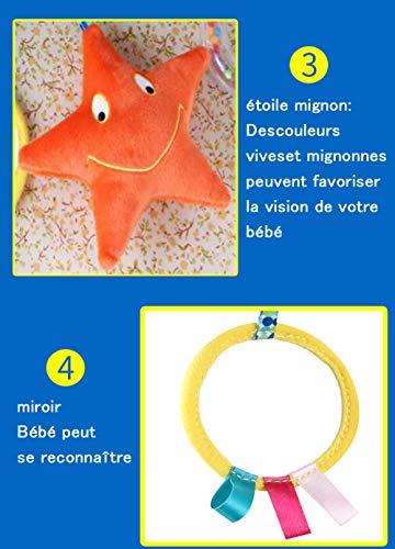 Jouet Spirale Bébé,Jouet Poussette avec Hochet Bébé et Anneau Dentition Bébé pour Spirale Lit...