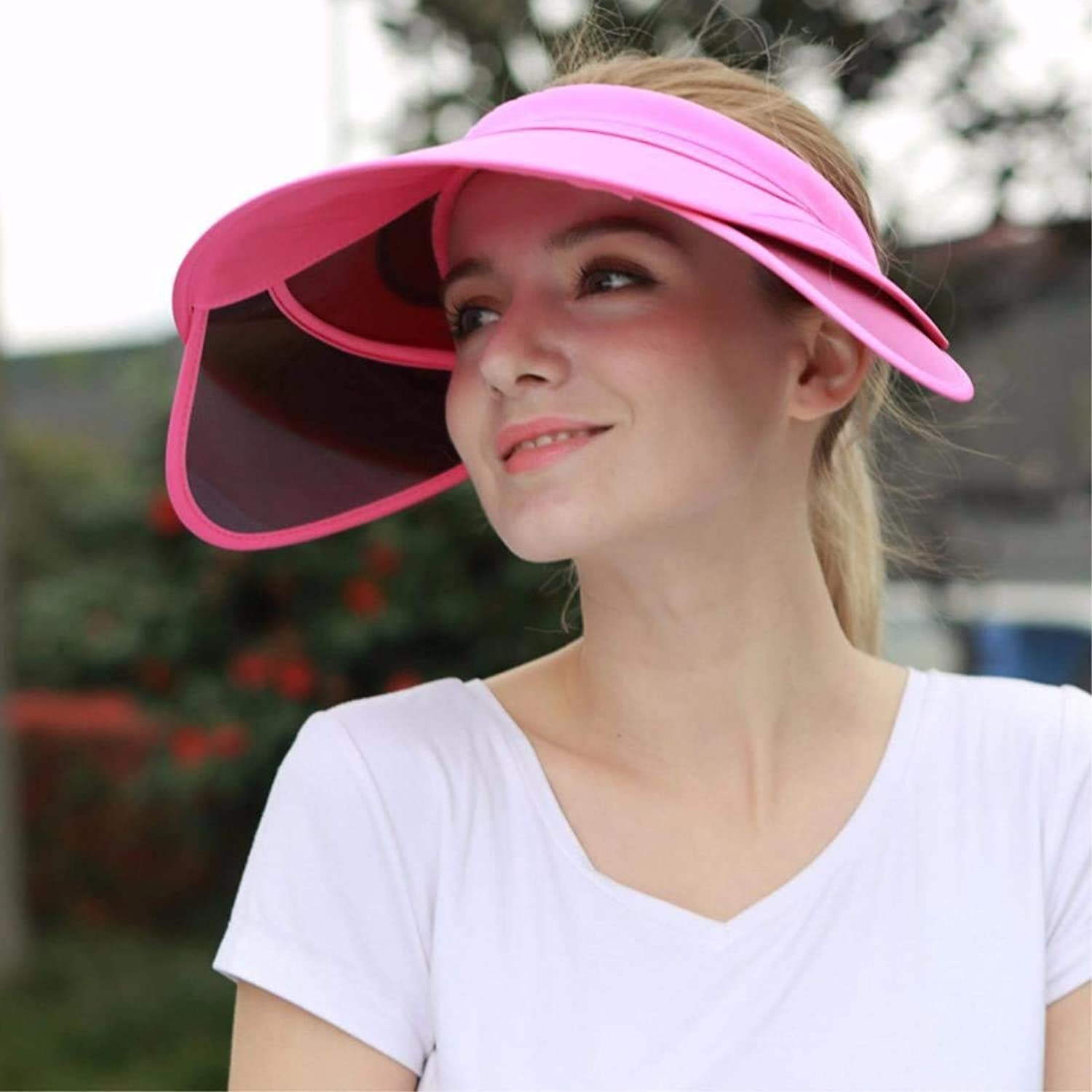 Beach Hat Woman Hat Summer Outdoor Sun Cap Empty Top Hat Beach Cap Bike Cap Pink A Summer Sun Hat