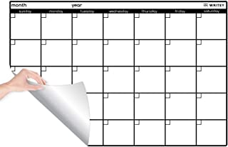 Peel and Stick Whiteboard Calendar, Large Monthly Calendar, 24 x 36 in - Stain Proof White Board Wall Organizer, and Reusa... photo