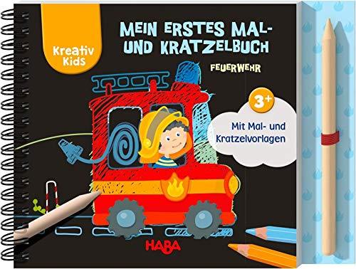 Mein erstes Mal- und Kratzelbuch Feuerwehr: Mit Mal- und Kratzelvorlagen (Kreativ Kids)