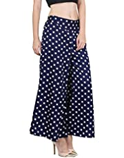 "LUXILICA Printed Premium Crepe Regular Fit Palazzo Pant with Inner and Pocket Trousers for Women Girls | Free Size Fit for 28"" to 32"""