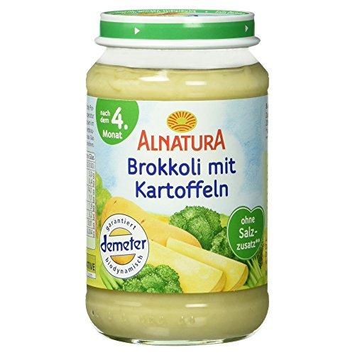 Alnatura Demeter Bio Brokkoli-Kartoffel, glutenfrei, 6er Pack (6 x 190 g)