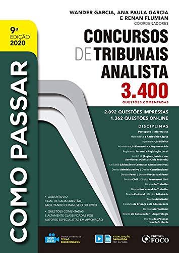 Como passar em concursos de Tribunais: Analista 2020 - 9ª EDIÇÃO