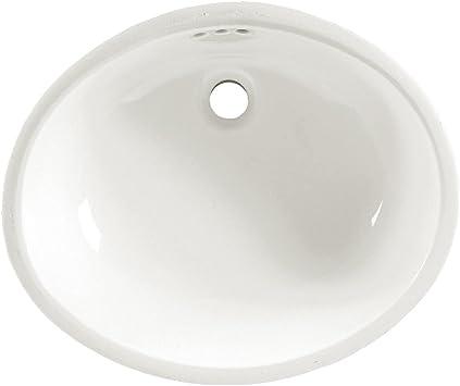 American Standard 0497 300 020 Ovalyn 21 1 4 By 17 3 8 Inch Under Counter Lavatory Sink White Bathroom Sinks Amazon Com