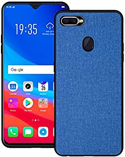 For OPPO F9 Case, Fabric Cloth Style 2 in 1 Soft Side All Inclusive Protective Cover Phone Back Case for OPPO F9 YYPingvfaws (Color : Blue)
