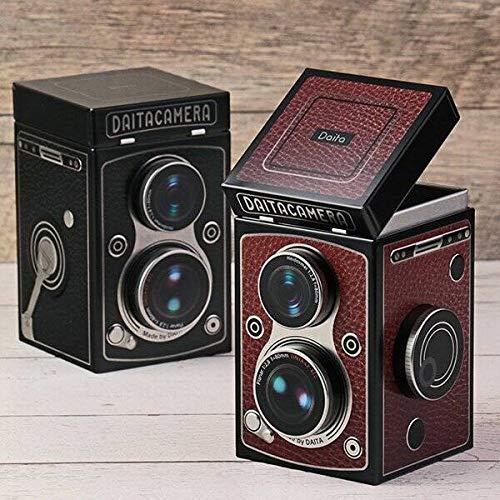 【KALDI】 カルディ レトロなレフレックスカメラ缶チョコレート 【バレンタイン】ショップバック付き (ブラック)