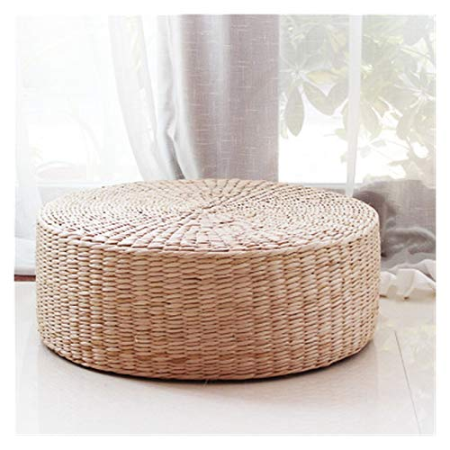 Cojín silla Ceremonia Del Té De Paja Colchón, Colchón Meditación, Rattan Silla Colchón Amortiguador Del Asiento Espadaña Meditación Cojín Throw (Color : 20cm thick, Specification : 45x45cm)