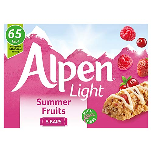 Alpen Light Summer Fruits 5 Cereal Bars (Pack of 10, total of 50 bars)