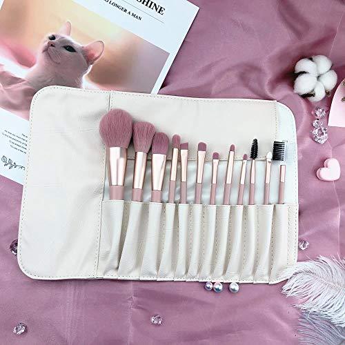 Ensemble De Pinceaux De Maquillage Rose Fille Coeur Outil De Pinceau De Maquillage Beau, 12 Pinceaux Roses G