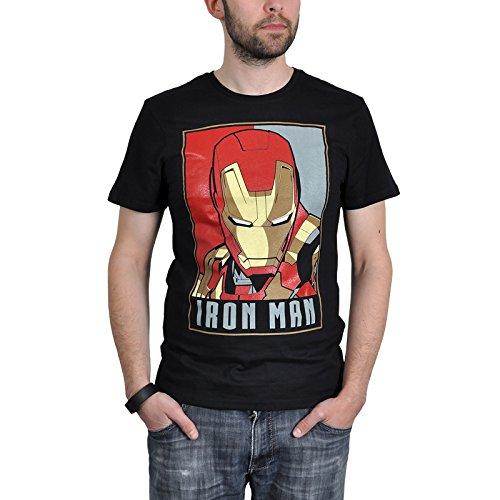 Iron Man - T-shirt - Homme Noir Noir - Noir - Xx-large