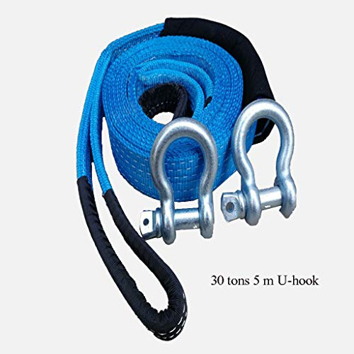 Fantastic Prices! 5 Meters Towing Rope with 2 Hooks - 30 Ton Towing Capacity - Perfect for Pulling A...
