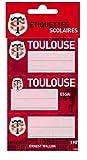 9 Etiquettes scolaires autocollantes Toulouse - Collection officielle STADE TOULOUSAIN