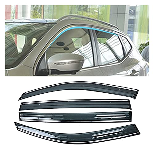 MYDH Windabweiser Autofenster Sun Rain Shield Shelter Protector Cover Zubehör Für Nissan Qashqai J11 2013-2019
