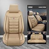Fundas Asientos Coche Universales para Land Rover Evoque Discovery Sport Range Rover Velar Discovery 3/4/5 Freelander Accesorios Coche-Estándar Beige