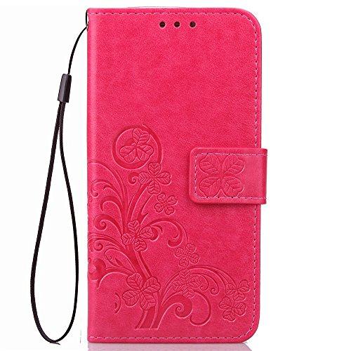 Flip Cover Per Samsung Galaxy S8 pinlu/® Alta Qualit/à Portafoglio in Artificiale Pelle Colorata Luminoso Coperture Eleganti del Telefono Trifoglio Fortunato Grigio