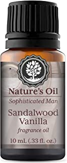 Sandalwood Vanilla Fragrance Oil Mens 10ml for Cologne, Diffuser Oils, Making Soap, Candles, Lotion, Home Scents, Linen Spray