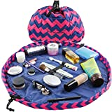 Lay-n-Go Drawstring Makeup Bag – Ocean Blue, 20 inch - Travel Cosmetic Bag and Jewelry,...
