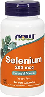 NOW Supplements, Selenium (L-Selenomethionine) 200 mcg, Essential Mineral*, 90 Veg Capsules