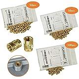 ruthex Gewindeeinsatz M3/M4/M5 Bundle (200 Stück) | Messing Gewindebuchsen | Einpressmutter für Kunststoffteile | durch Wärme oder Ultraschall in 3D-Drucker Teile (M3 / M4 / M5 Bundle)
