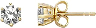 Esprit Ohrringe ESER01311200 Damen Ohrstecker Sole Gold Weiß Zirkonia
